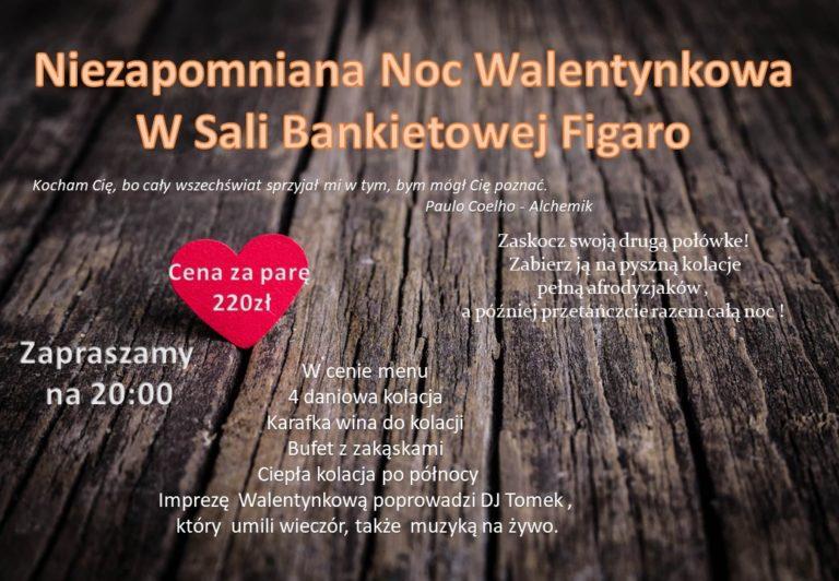 Walentynki 2020 - Sala Bankietowa Figaro